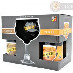 Белгия – Kasteel gift pack 4х330cl + чаша