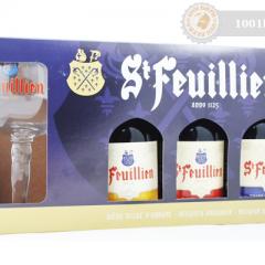 Белгия – St Feuillien  – gift pack 3х330cl+чаша